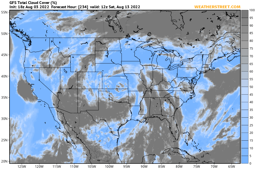 Total Cloud Cover Gfs 10 Day Forecast - Us-cloud-cover-map