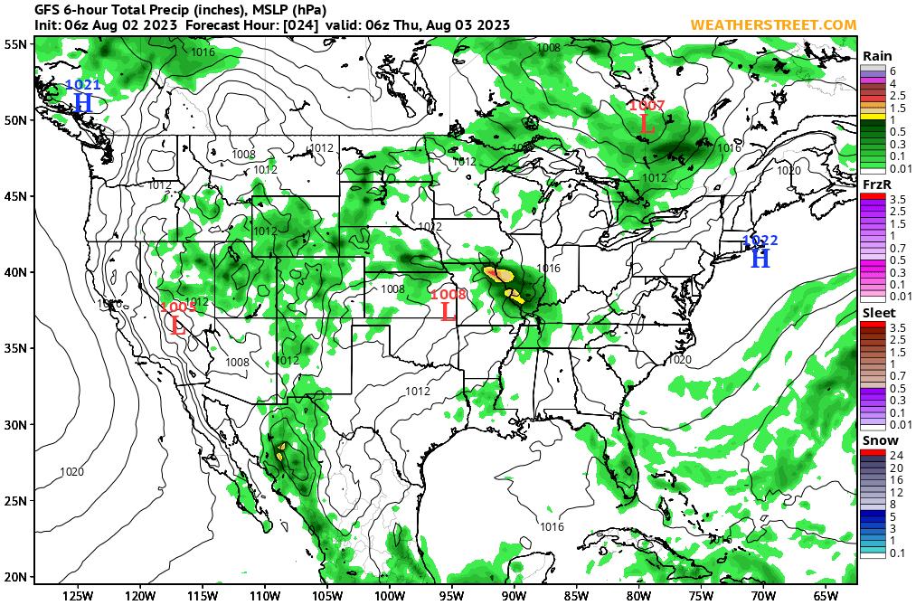 US Pressures https://weatherstreet.com/models/gfs-slp-precip-forecast.php