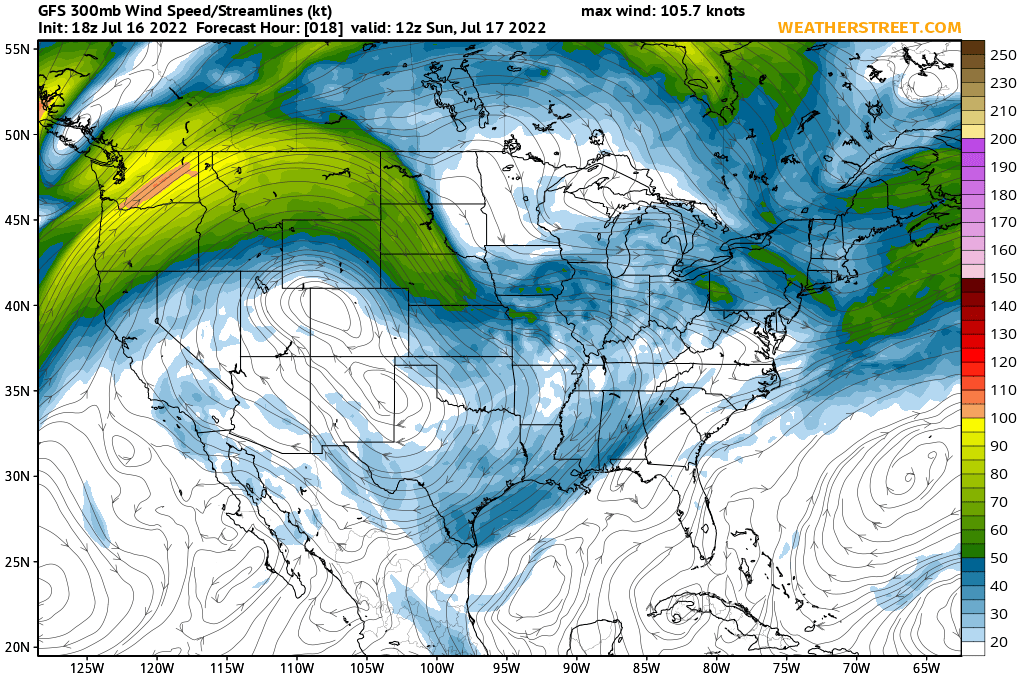 Jet Stream Winds At 300 Mb 30000 Ft Gfs 10 Day Forecast - Current-us-jetstream-map