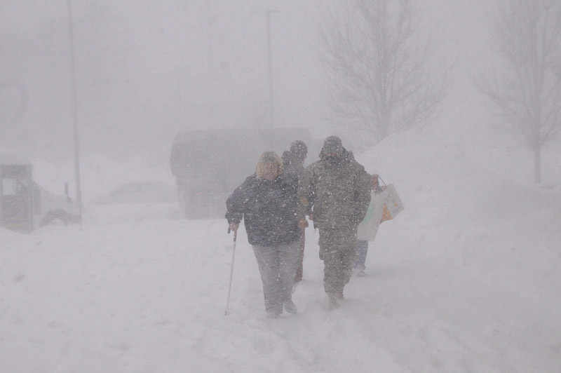 blizzards have winds of at least 35 mph with blowing or falling snow (photo:NOAA)
