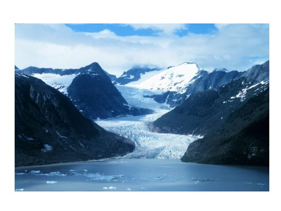 glacier reaching the sea (photo: NOAA)
