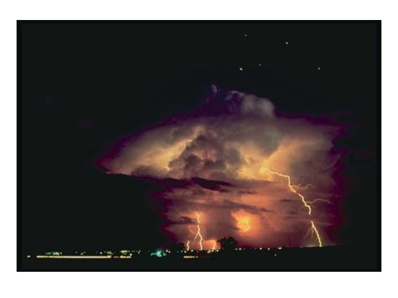 thunderstorm at night: NOAA
