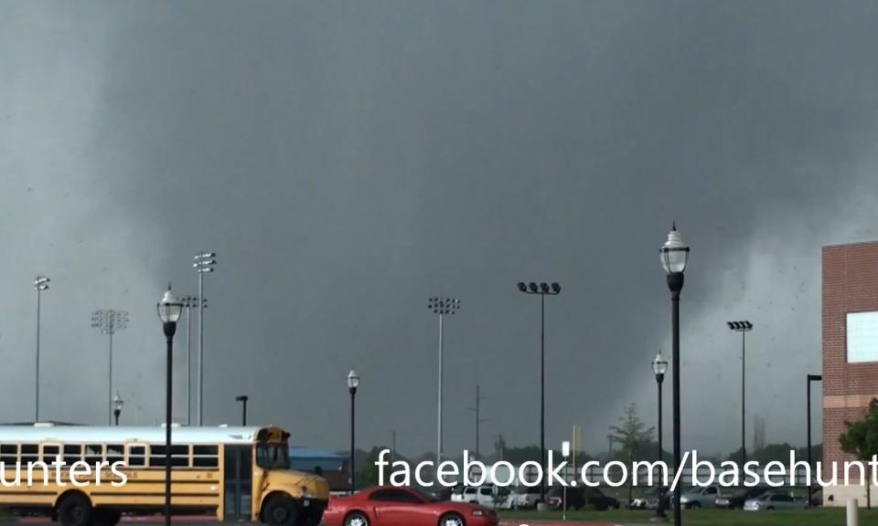 tornado in Moore, OK on May 20, 2013 captured on Basehunters video