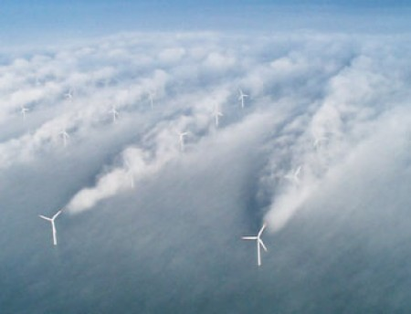 turbulence downwind of wind turbines